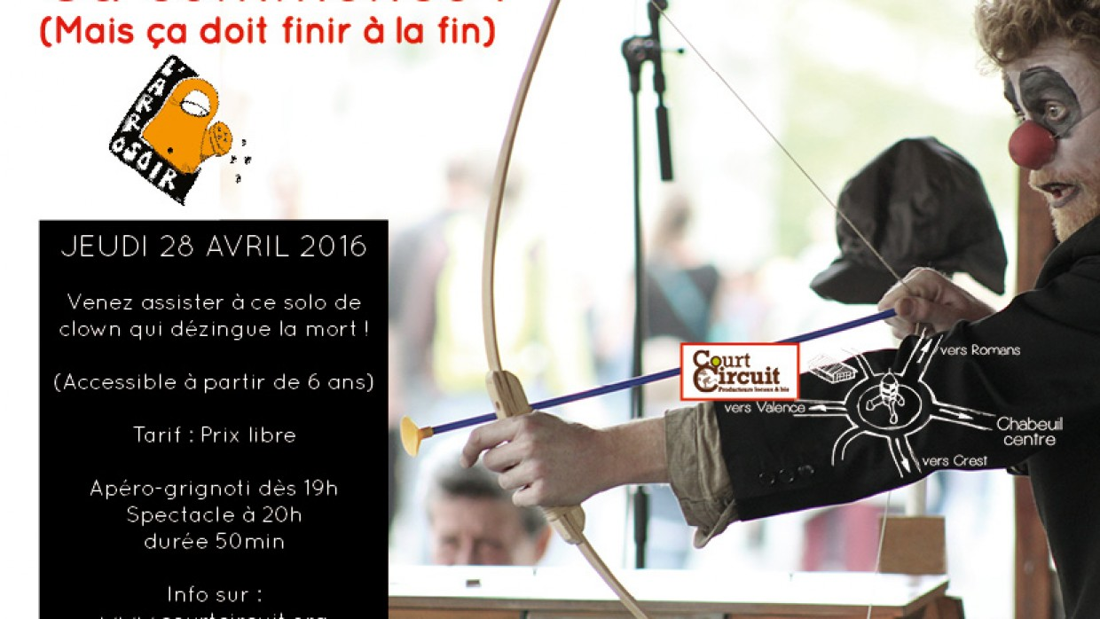 SOLO DE CLOWN LE JEUDI 28 AVRIL A 19H