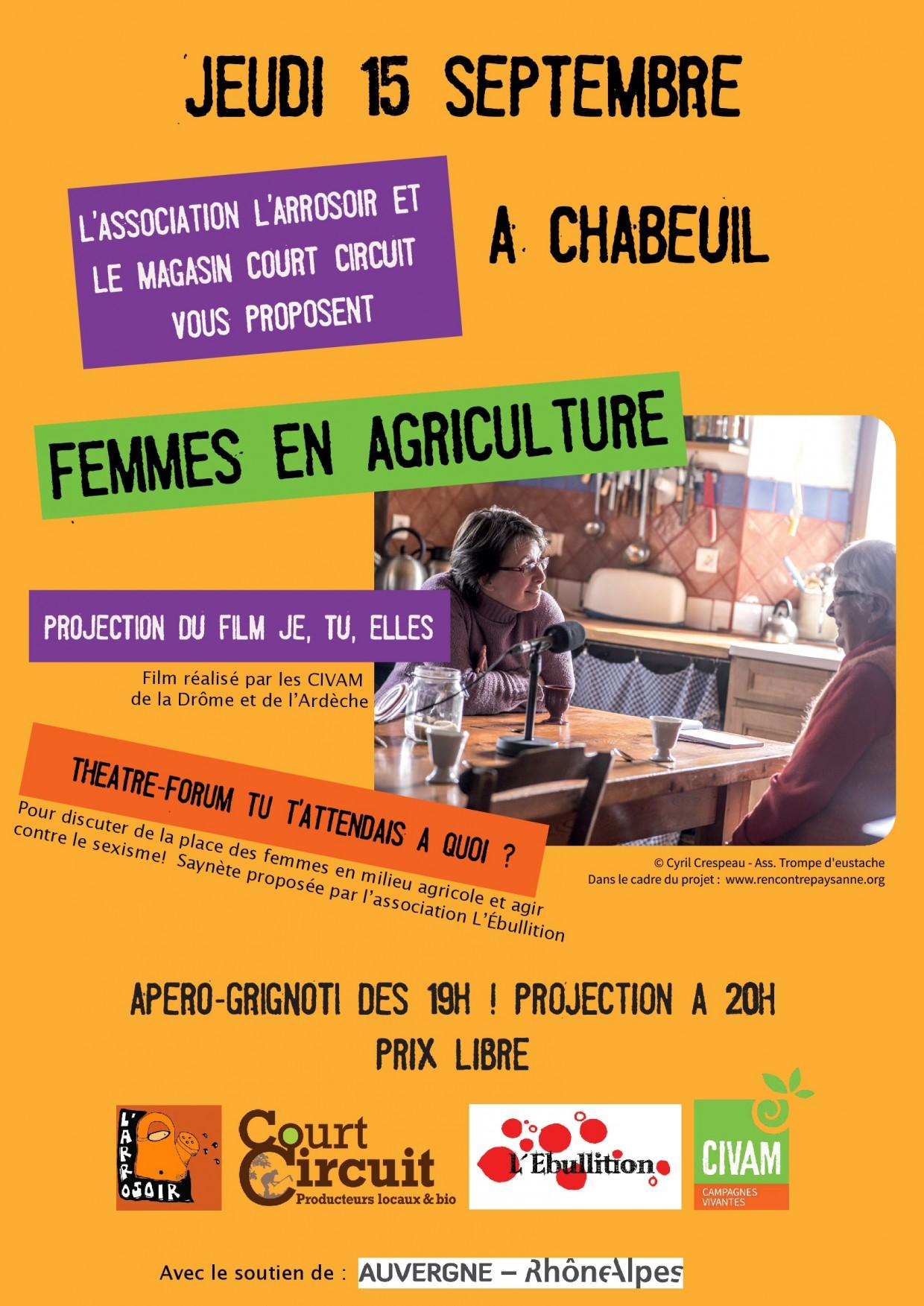 PROJECTION et THÉÂTRE FORUM AUTOUR DES FEMMES EN AGRICULTURE