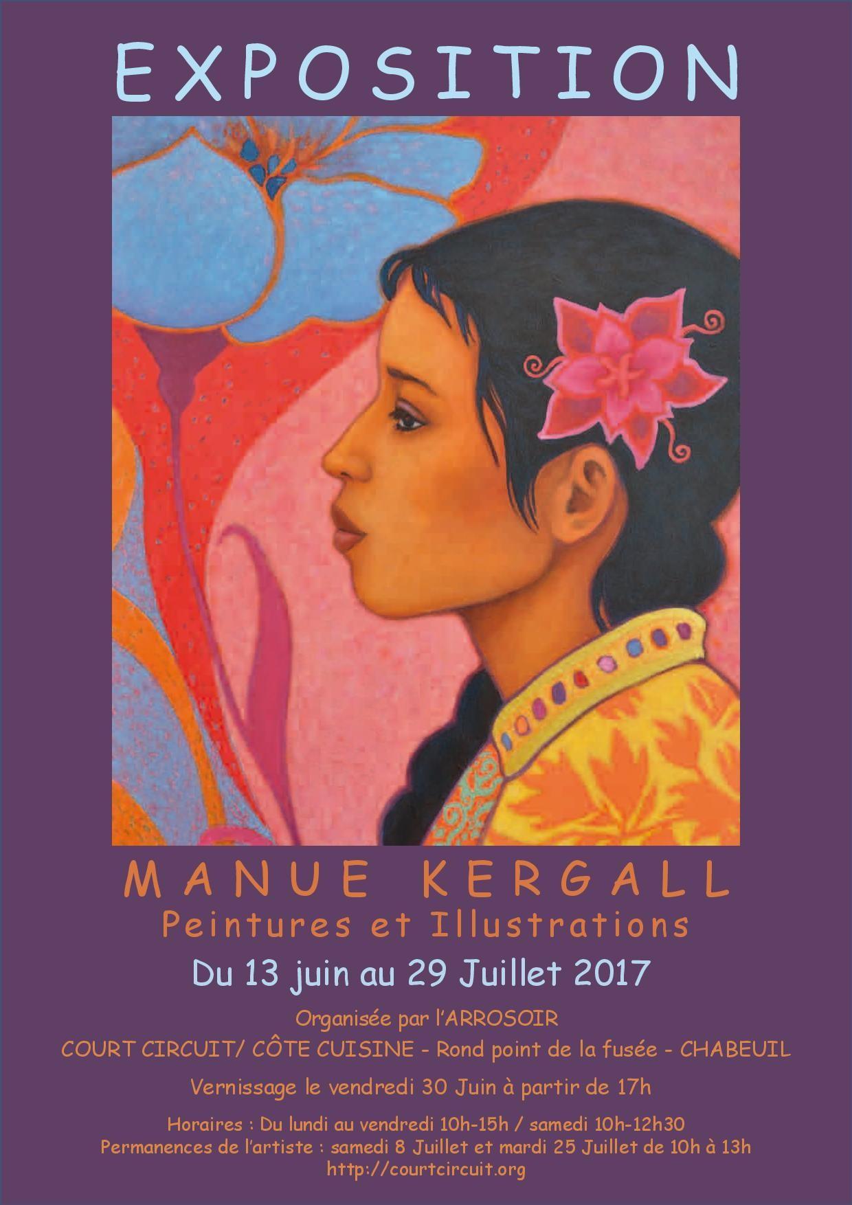 EXPOSITION DE MANUE KERGALL du 13 juin au 29 juillet