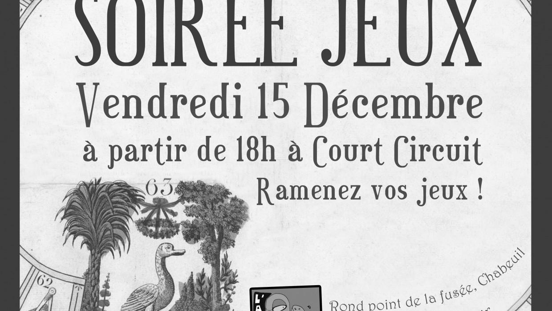 SOIRÉE JEUX VENDREDI 15 DÉCEMBRE