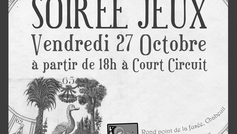 SOIRÉE JEUX VENDREDI 27 OCTOBRE