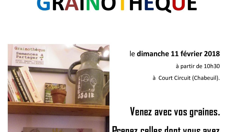 INAUGURATION DE LA GRAINOTHEQUE DE L'ARROSOIR