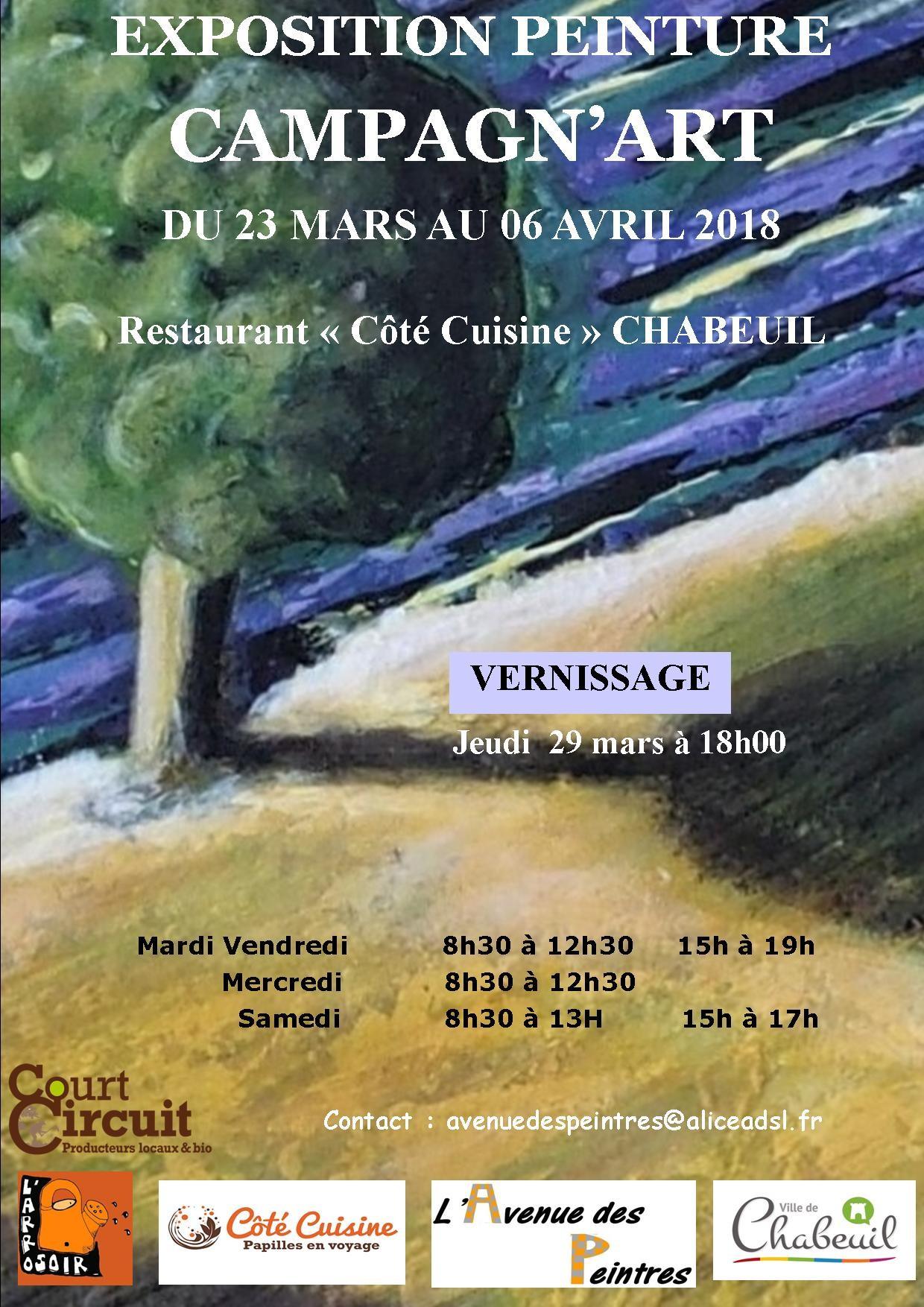 EXPOSITION DE PEINTURES DU 23 MARS AU 06 AVRIL