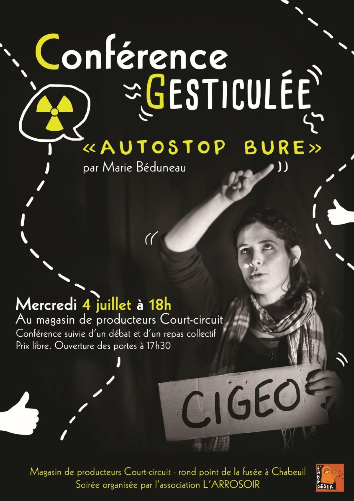 CONFÉRENCE GESTICULÉE «AUTOSTOP BURE»