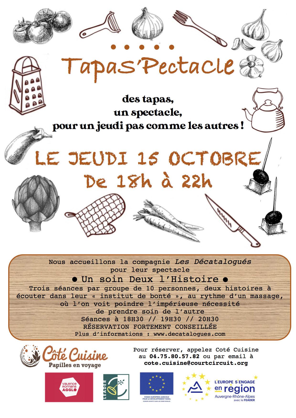 TapaS'pectacle Jeudi 15 Octobre de 18h à 22h