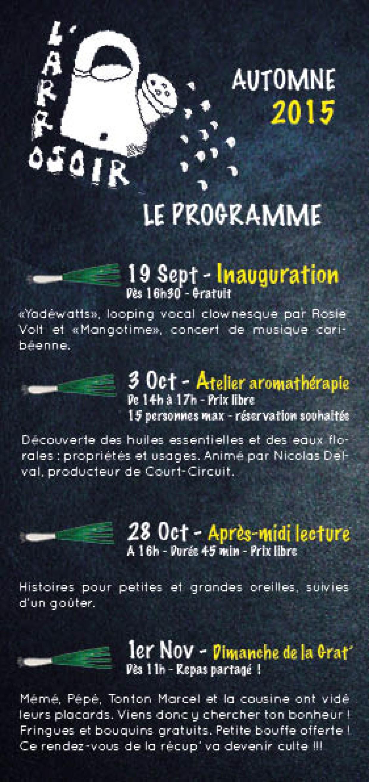 Le programme de la saison Culturelle de l'Arrosoir est sorti!!