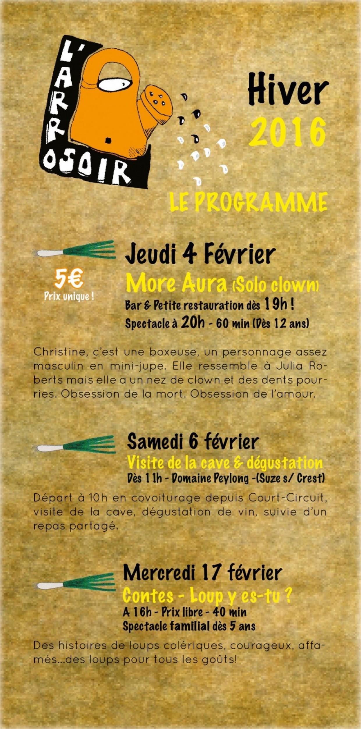 LE PROGRAMME CULTUREL DE L'HIVER EST SORTI!!!