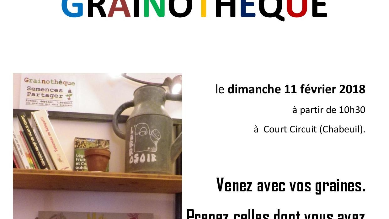 INAUGURATION DE LA GRAINOTHEQUE DE L'ARROSOIR